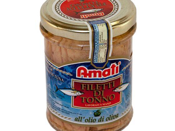 Filetti di tonno in olio di oliva gr.185
