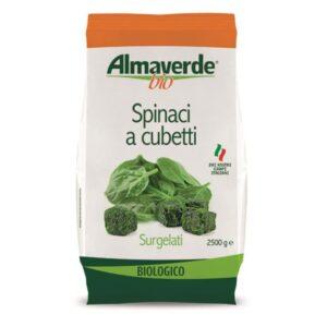 """Spinaci a cubetti Bio """"Almaverde Bio"""" kg.2"""