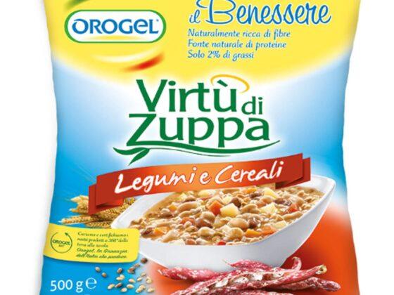 Virtù di Zuppa legumi e cereali Orogel gr.500